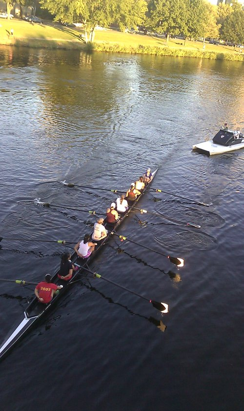 rowing closeup