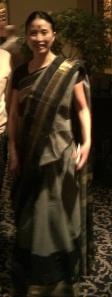 akiko in a saree